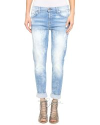 7 For All Mankind | Blue Josephina Destroyed Bleached Jeans - Light Sky 5 | Lyst