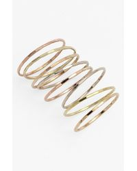 Melissa Joy Manning - Metallic Stackable Rings - Assorted Gold (set Of 8) - Lyst
