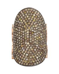 Sara Weinstock | Multicolor Pave Sapphire & Pave Diamond Saddle Ring | Lyst