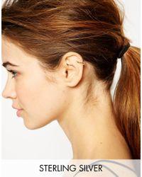 ASOS Metallic Gold Plated Sterling Silver Teardrop Single Ear Cuff