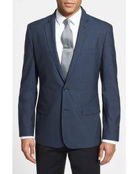 Calibrate - Blue Trim Fit Wool & Mohair Blazer for Men - Lyst