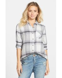 BP Gray Plaid Cotton Shirt
