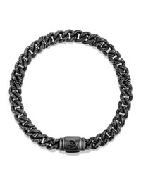 David Yurman | Petite Pavé Curb Link Bracelet With Black Diamonds | Lyst