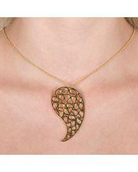 Sonal Bhaskaran   Metallic Jaali Gold Necklace Clear Cz   Lyst