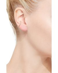 Hirotaka - Metallic Single Diamond Ear Cuff - Lyst
