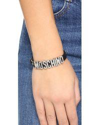 Moschino - Bracelet - Black - Lyst