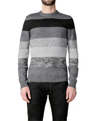 DIESEL Black Mayall Tonal Stripe Jumper for men