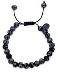 Joseph Brooks Black Obsidian Beaded Bracelet for men