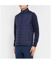 RLX Ralph Lauren - Blue Quilted Cool Wool Golf Jacket for Men - Lyst