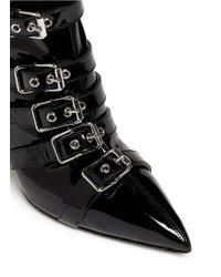 Giuseppe Zanotti - Black 'yvette' Patent Leather Buckle Boots - Lyst