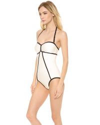 Marc By Marc Jacobs | White Le Shine Bandeau Maillot | Lyst