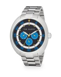 Ted Baker - Metallic Stainless Steel Chronograph Watch - Lyst