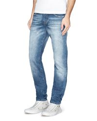 Scotch & Soda - Blue 'ralston' Washed Slim Fit Jeans for Men - Lyst