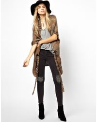 Zadig & Voltaire - Multicolor Chunky Sleeveless Cardigan in Mixed Yarn - Lyst
