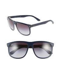 Ray-Ban Blue 'boyfriend Flat Top Frame' 60mm Sunglasses