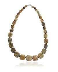 Lord & Taylor | Brown Jasper Bead Necklace | Lyst