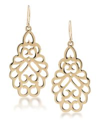 Carolee | Metallic Fashion Ave Teardrop Earrings | Lyst