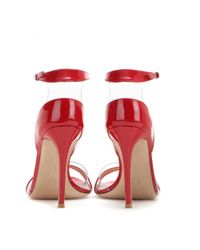 Gianvito Rossi Red Patent Leather Sandals