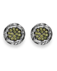 Platadepalo | Green Zircon Silver Earrings | Lyst