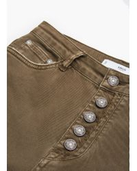 Mango | Natural Flared Buttoned Trousers | Lyst