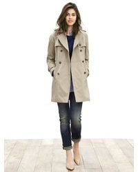 Banana Republic | Gray Double-breasted Trench | Lyst