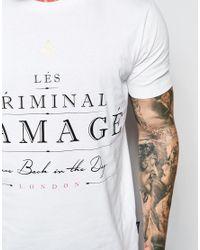 Criminal Damage - White Label T-shirt for Men - Lyst