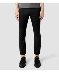 AllSaints | Black Fagin Trouser for Men | Lyst