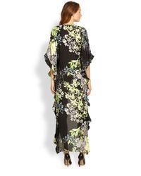 BCBGMAXAZRIA - Black Dameka Floral Print Hilo Dress - Lyst