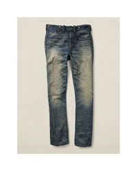 RRL - Blue Empire Buckle-back Jean for Men - Lyst
