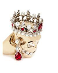 Alexander McQueen | Metallic Royal Skull Ring | Lyst