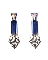 Iosselliani - Blue Faded Ink Rose Earrings - Lyst