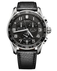 Victorinox | Metallic 241493 Men's Infantry Chronograph Leather Strap Watch for Men | Lyst