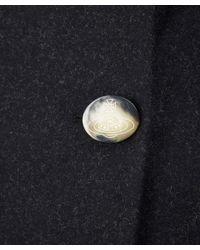Vivienne Westwood Black Knot Collar Wool-blend Coat