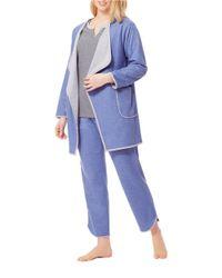 Carole Hochman | Blue Lounge Robe | Lyst
