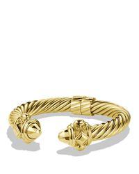 David Yurman   Metallic Renaissance Bracelet In Gold   Lyst