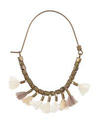 Isabel Marant White Goldtone Tassel Earrings