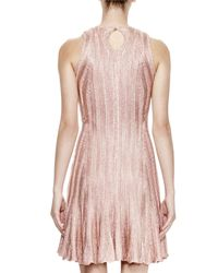 Alexander McQueen Pink Fit-and-Flare Crepe Dress