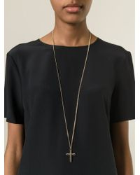 Givenchy - Metallic Crucifix Pendant Necklace - Lyst
