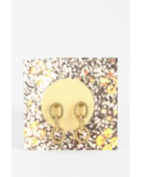 Urban Outfitters - Metallic Chain Link Gift Card Earring - Lyst