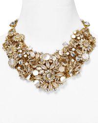 kate spade new york Metallic Grande Bouquet Statement Necklace 18