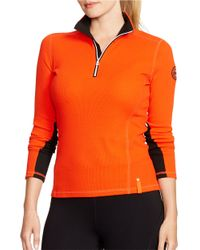 Lauren by Ralph Lauren | Orange Plus Waffle-knit Mockneck Pullover | Lyst