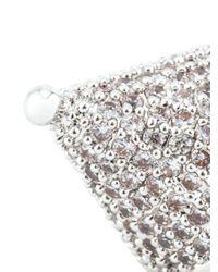 Eddie Borgo   Metallic Pavé Crystal Cone Earrings   Lyst