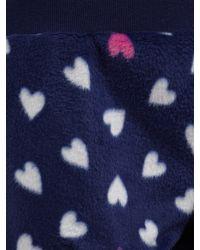 John Lewis Blue Heart Print Fleece Pyjama Set