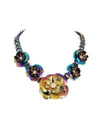 Ziba | Metallic Bellanca Statement Necklace | Lyst