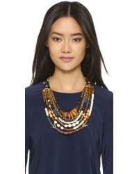 Lizzie Fortunato Metallic The Medina Necklace - Gold Multi