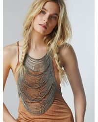 Free People | Metallic Washed Ashore Body Piece | Lyst