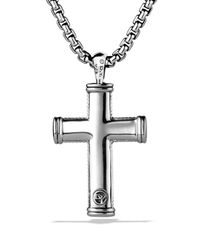 David Yurman | Metallic Sky Small Cross On Chain for Men | Lyst
