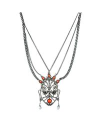 Alexis Bittar - Metallic Cubist Encrusted Mask Necklace You Might Also Like - Lyst
