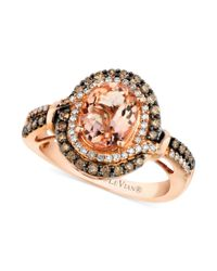 Le Vian | Pink Morganite (1-3/8 Ct. T.w.) And Diamond (1/2 Ct. T.w.) Ring In 14k Rose Gold | Lyst