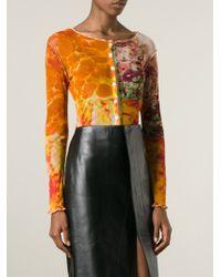 Jean Paul Gaultier | Multicolor Printed Sheer Cardigan | Lyst